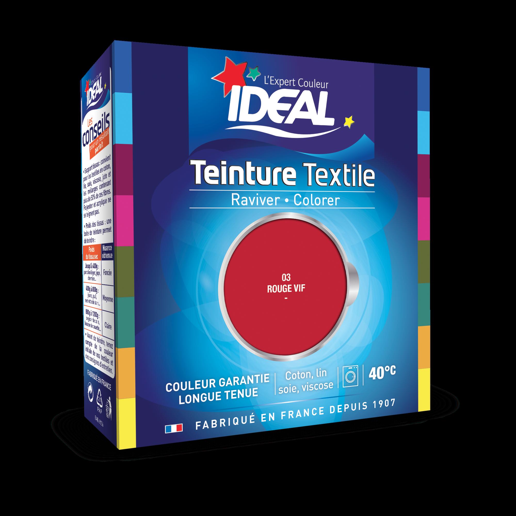 teinture liquide ideal maxi rouge vif - Colorant Vetement