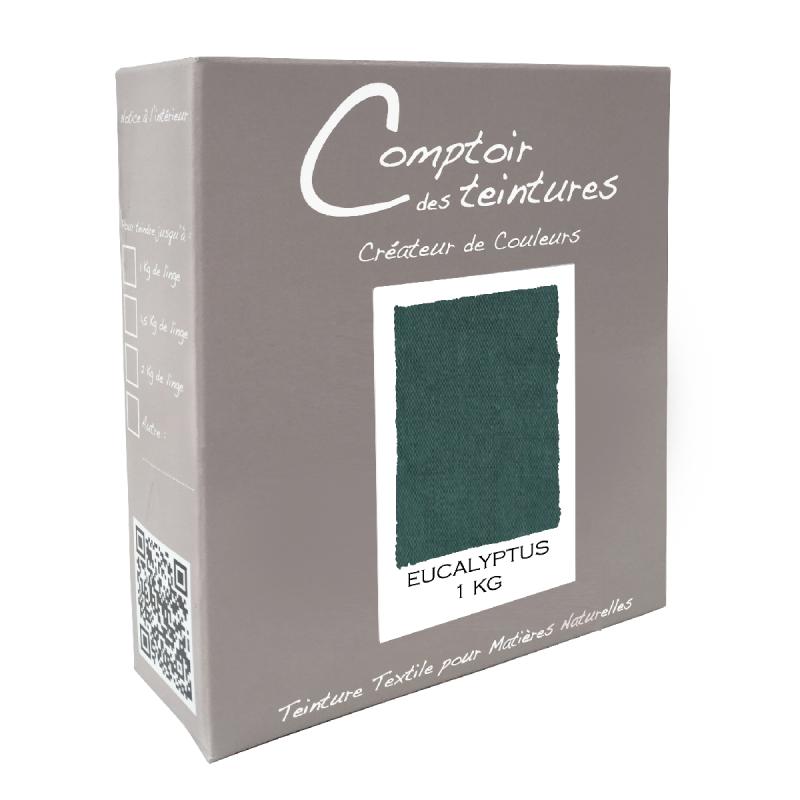 Mélange Eucalyptus : Teinture Textile pour lin, soie, coton, viscose