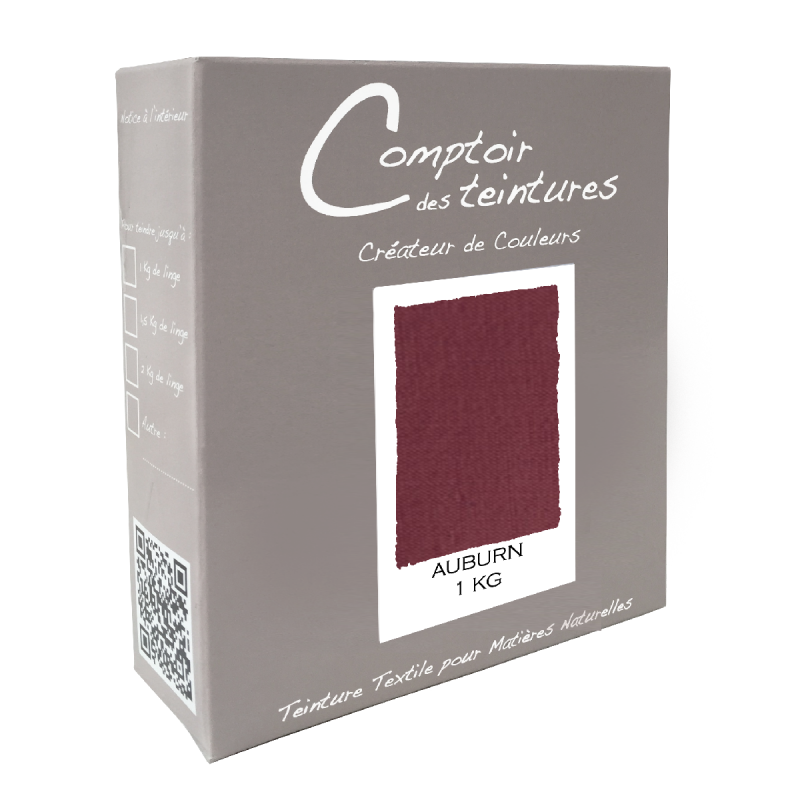 Mélange Auburn - Teinture Textile pour Lin, Soie, Coton et Viscose