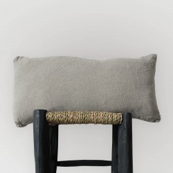 Coussin Naturel allongé en lin brut