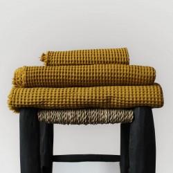 Drap de bain madras en nid d'abeille