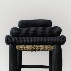 Plaid anthracite en nid d'abeille