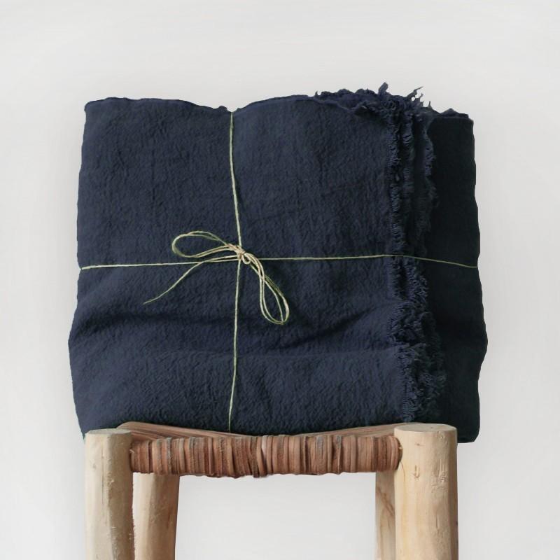 plaid en lin brut 100. Black Bedroom Furniture Sets. Home Design Ideas
