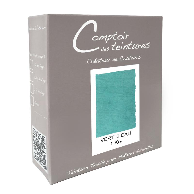 Mélange Vert d'eau : Teinture Textile pour lin, soie, coton, viscose