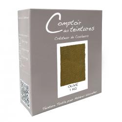 Mélange Olive - Teinture Textile pour Lin, Soie, Coton et Viscose
