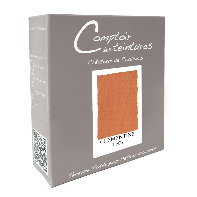 Mélange Clémentine - Teinture Textile pour Lin, Soie, Coton et Viscose