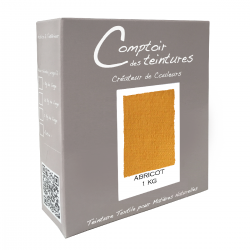 Mélange Abricot - Teinture Textile pour Lin, Soie, Coton et Viscose