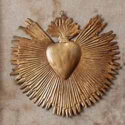 """""""Coeur qui rayonne"""" Or"""