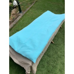 Sofa Cover en Double Gaze Turquoise