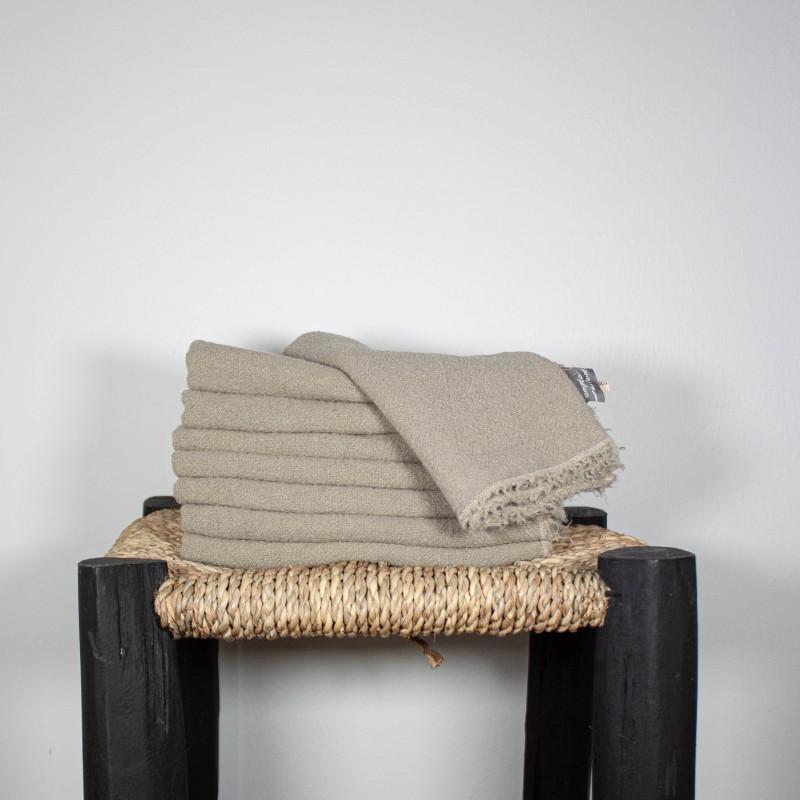 Serviettes de Table en lin brut naturel