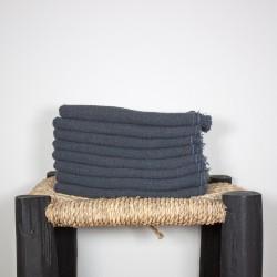 Serviettes de Table en lin brut Carbone
