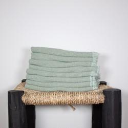 Serviettes de Table en lin brut Verveine