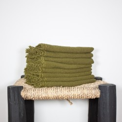 Serviettes de Table en lin brut Chartreuse