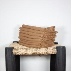 Serviettes de Table en lin brut Tabac