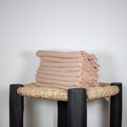 Serviettes de Table en lin brut Eau de rose
