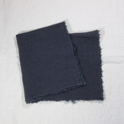 Set de Table en lin brut carbone