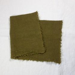 Set de Table en lin brut Chartreuse