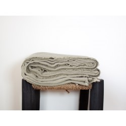 Plaid/Nappe en lin brut naturel