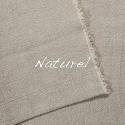 Plaid/Nappe en lin brut naturel