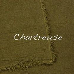 Plaid/Nappe en lin brut Chartreuse