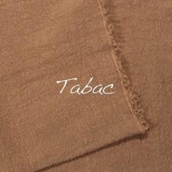 Plaid/Nappe en lin brut Tabac