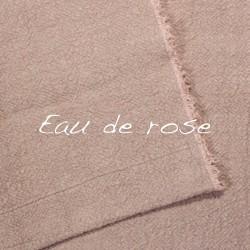 Plaid/Nappe en lin brut Eau de rose