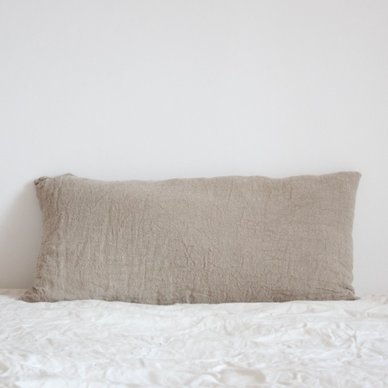 Coussin Long en lin brut Naturel