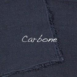 Coussin Carré en lin brut Carbone