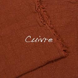 Coussin Carré en lin brut Cuivre
