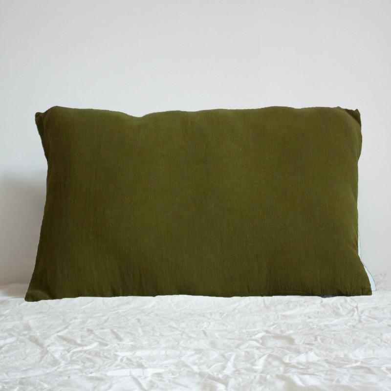 Coussin Rectangulaire en lin brut Chartreuse