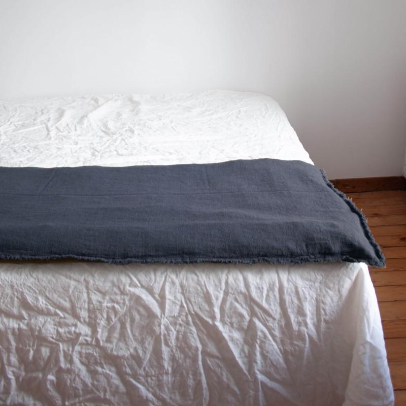 Sofa Cover en lin brut Carbone