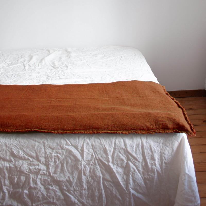 Sofa Cover en lin brut Cuivre
