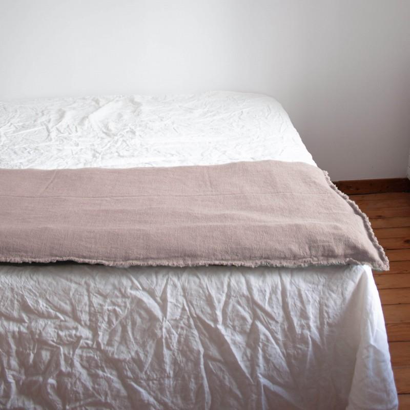 Sofa Cover en lin brut Eau de rose
