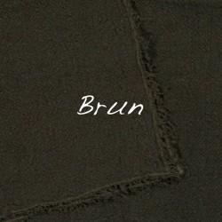 Coussin Long en lin brut Brun