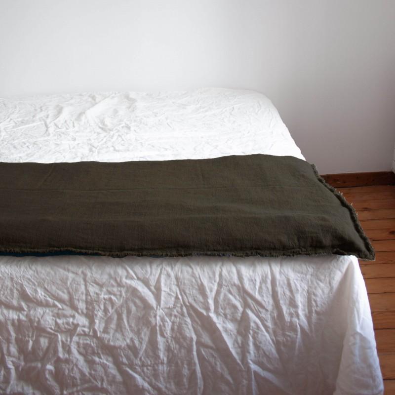 Sofa Cover en lin brut Brun