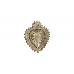 Boîte coeur étoile argent
