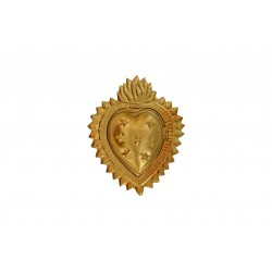 Boîte coeur étoile or