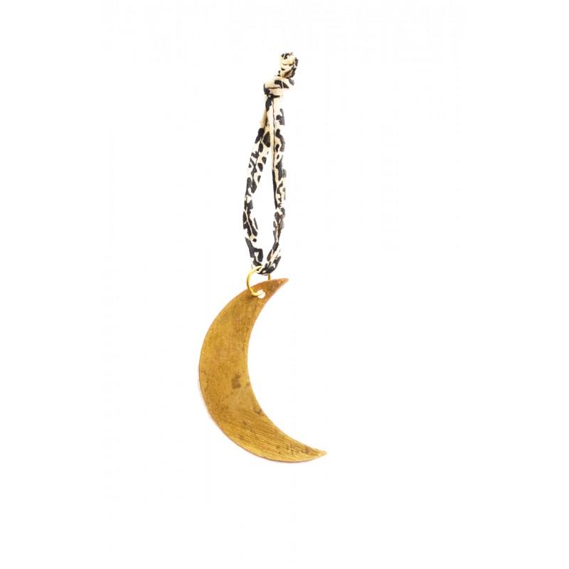 Breloque 1/4 Lune dorée