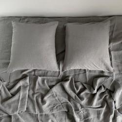 Linge de lit en lin lavé - Gris Perle