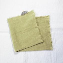 Serviettes de Table en lin brut Paille