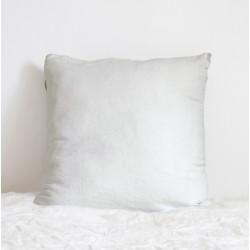 Coussin Carré en lin Blanc