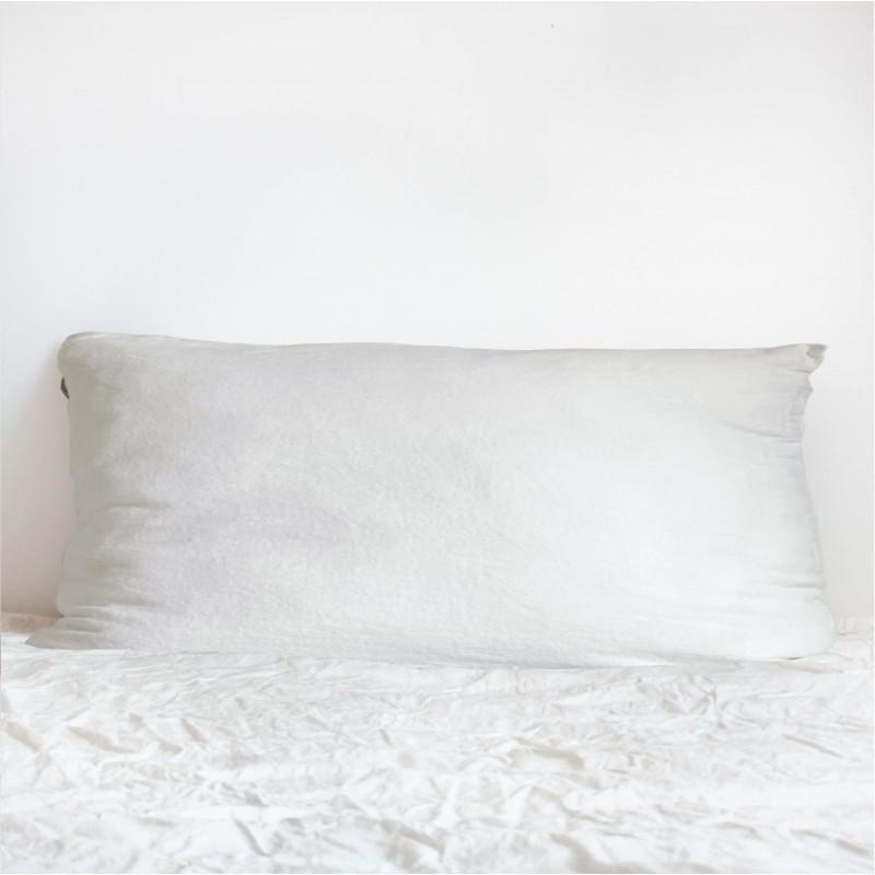 Coussin Long en lin Blanc