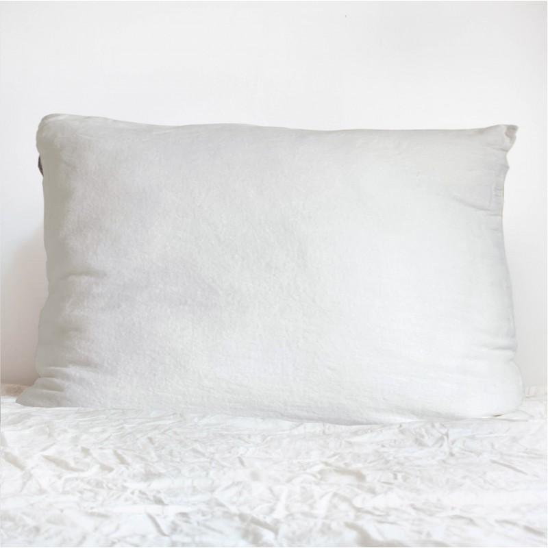 Coussin Rectangulaire en lin Blanc